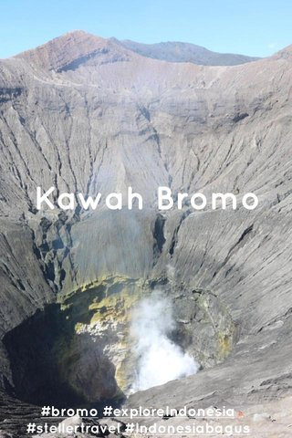 Kawah Bromo #bromo #exploreIndonesia #stellertravel #Indonesiabagus
