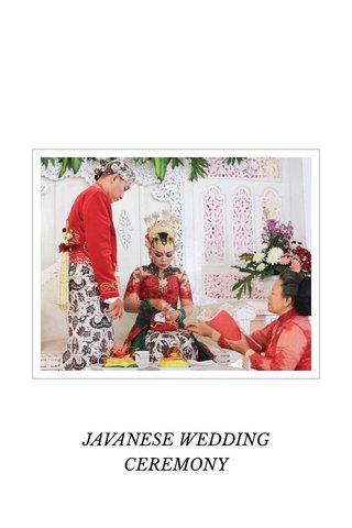 JAVANESE WEDDING CEREMONY