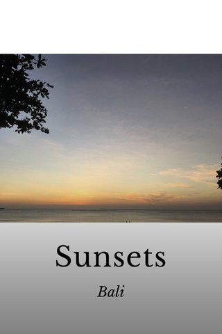 Sunsets Bali