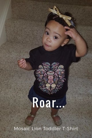 Roar... Mosaic Lion Toddler T-Shirt