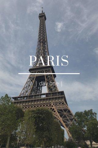 PARIS | day one |