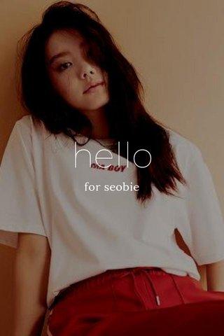 hello for seobie