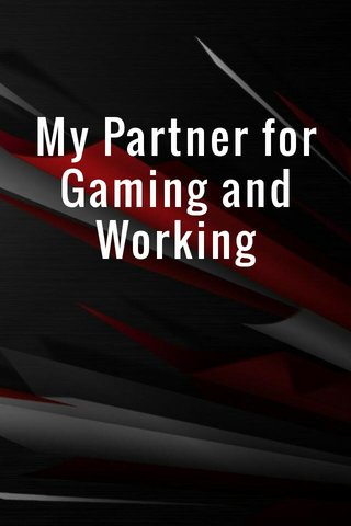 My Partner for Gaming and Working