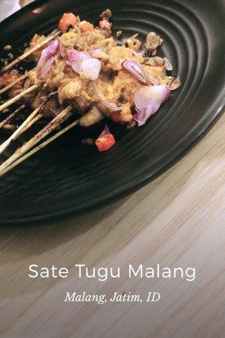 Sate Tugu Malang Malang, Jatim, ID