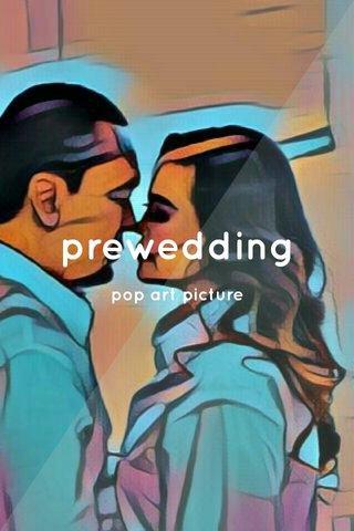 prewedding pop art picture
