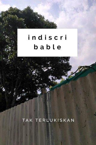 indiscribable TAK TERLUKISKAN