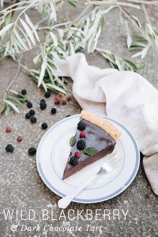 WILD BLACKBERRY & Dark Chocolate Tart