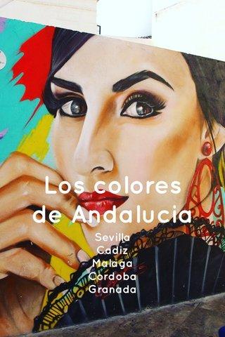 Los colores de Andalucia Sevilla Cadiz Malaga Cordoba Granada
