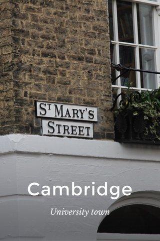 Cambridge University town