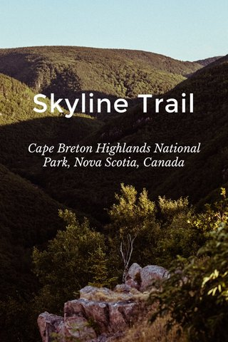 Skyline Trail Cape Breton Highlands National Park, Nova Scotia, Canada