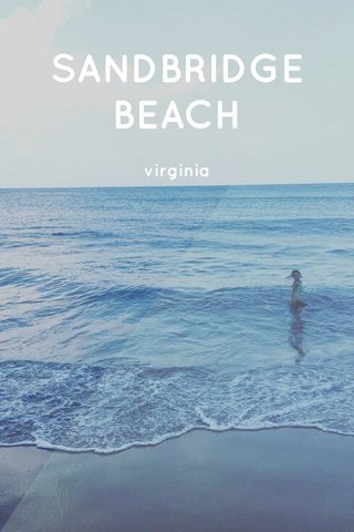 SANDBRIDGE BEACH virginia