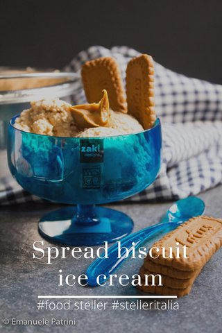 Spread biscuit ice cream #food steller #stelleritalia