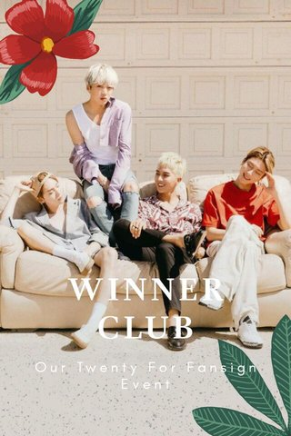 WINNERCLUB Our Twenty For Fansign Event
