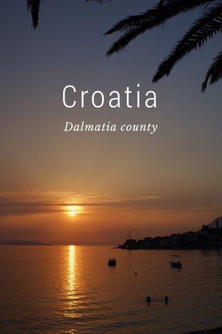 Croatia Dalmatia county