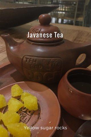 Javanese Tea Yellow sugar rocks