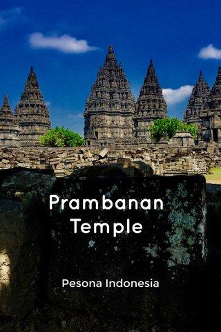 Prambanan Temple Pesona Indonesia