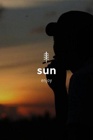 sun enjoy