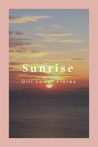 Sunrise Gili Lawa, Flores
