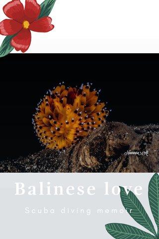 Balinese love Scuba diving memoir