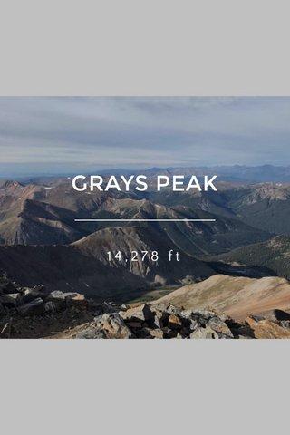GRAYS PEAK 14,278 ft