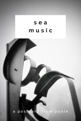 sea music a postcard from poole