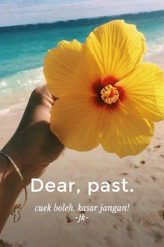 Dear, past. cuek boleh. kasar jangan! -fk-