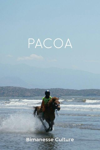 PACOA Bimanesse Culture