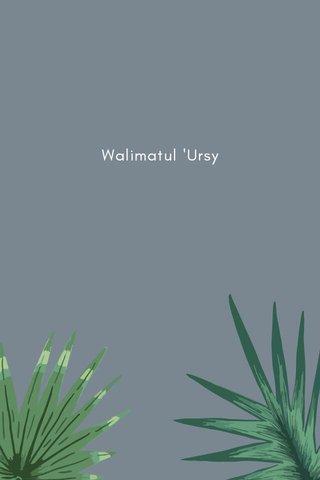 Walimatul 'Ursy