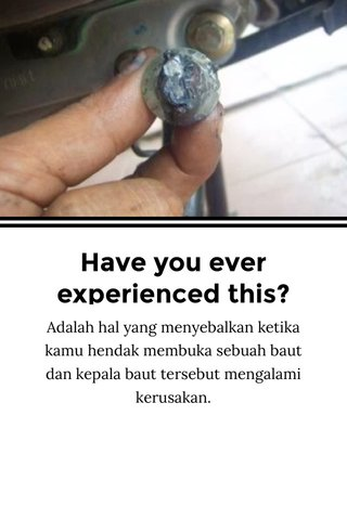 Have you ever experienced this?