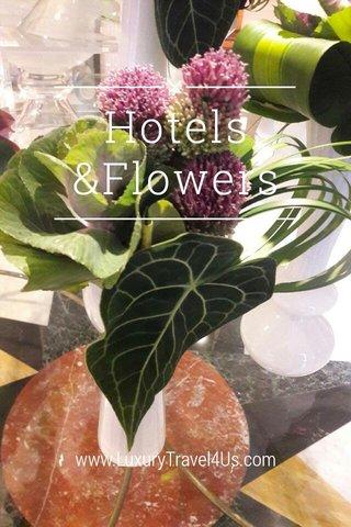 Hotels &Flowers www.LuxuryTravel4Us.com