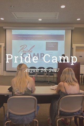 Pride Camp August 26, 2017