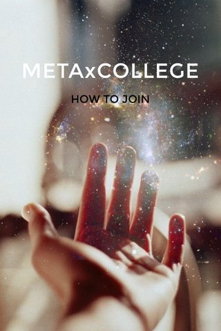 METAxCOLLEGE HOW TO JOIN