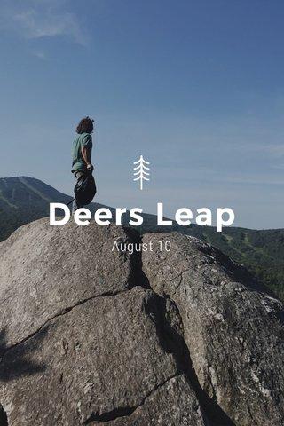 Deers Leap August 10