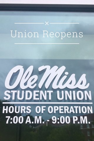 Union Reopens |