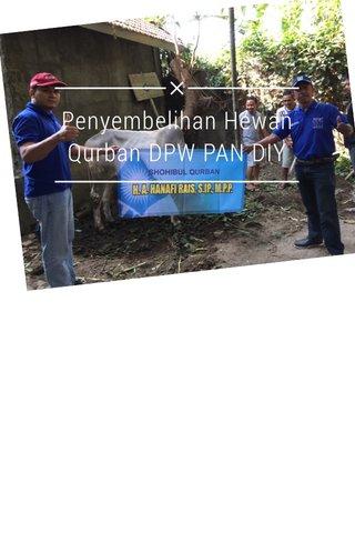 Penyembelihan Hewan Qurban DPW PAN DIY
