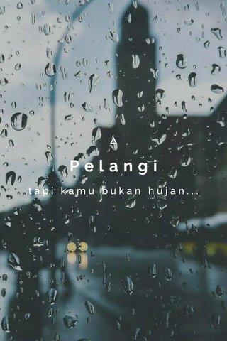 Pelangi tapi kamu bukan hujan...