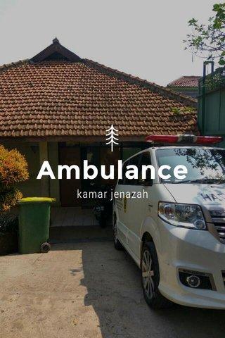 Ambulance kamar jenazah