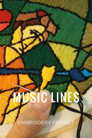 MUSIC LINES EMBROIDERY PROJECT
