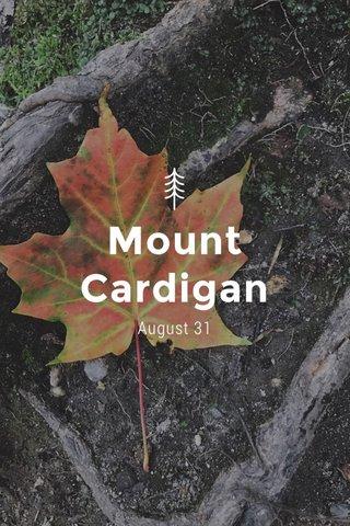 Mount Cardigan August 31