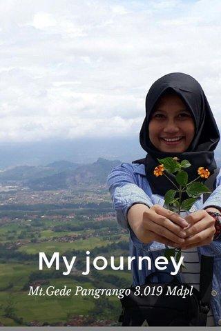 My journey Mt.Gede Pangrango 3.019 Mdpl