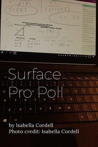 Surface Pro Poll by Isabella Cordell Photo credit: Isabella Cordell
