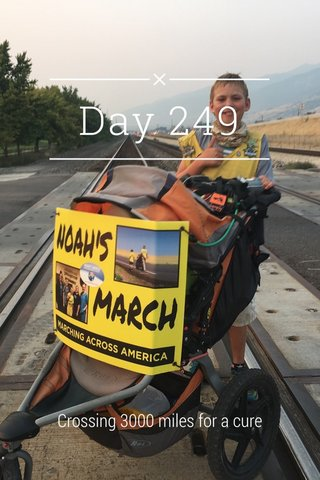 Day 249 Crossing 3000 miles for a cure