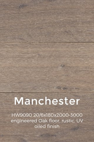 Manchester HW9090 20/6x180x2000-3000 engineered Oak floor, rustic, UV oiled finish