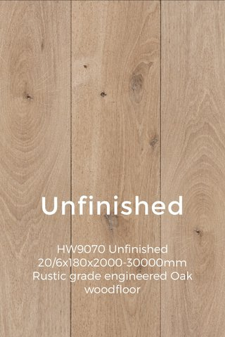 Unfinished HW9070 Unfinished 20/6x180x2000-30000mm Rustic grade engineered Oak woodfloor