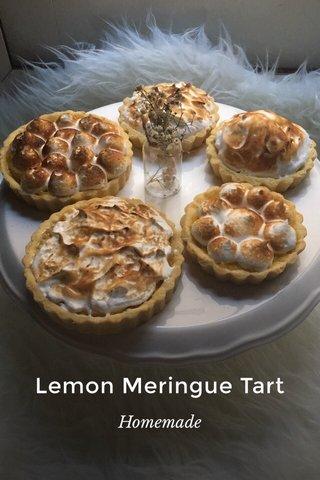 Lemon Meringue Tart Homemade