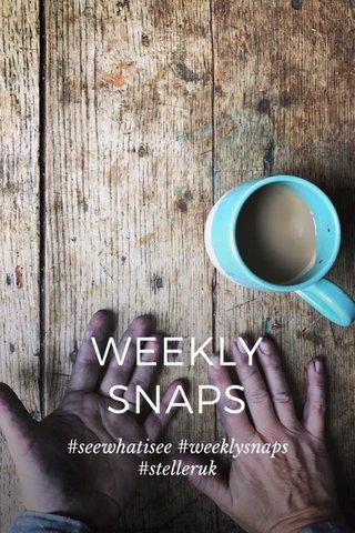 WEEKLY SNAPS #seewhatisee #weeklysnaps #stelleruk