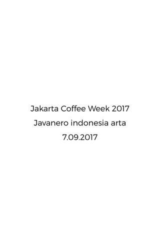 Jakarta Coffee Week 2017 Javanero indonesia arta 7.09.2017