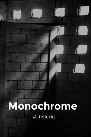 Monochrome #stellerid