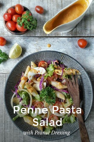Penne Pasta Salad with Peanut Dressing