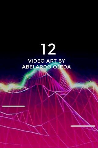 12 VIDEO ART BY ABELARDO OJEDA
